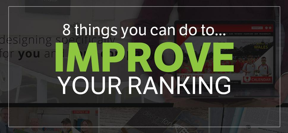 8 things you can do today to improve your website's Google Ranking