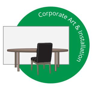 Corporate Art Installation Design Graphic for websites Cardiff