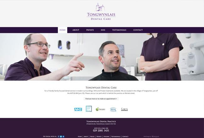 Dental Practice in Cardiff Website Design