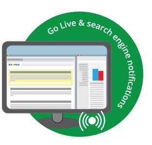 Go Live search engine notifications Cardiff Websites