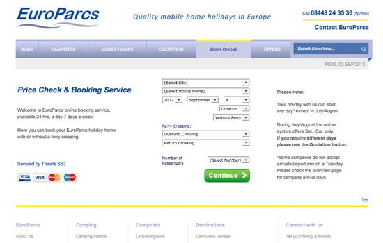 holidays-page-web-design-cardiff