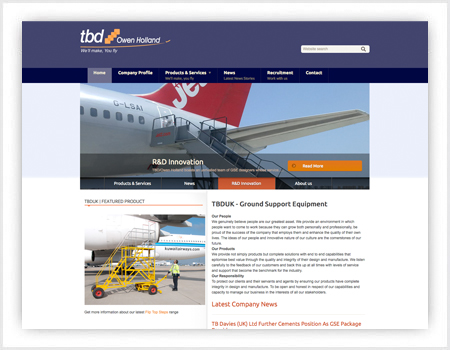 web site design for tbuk cardiff