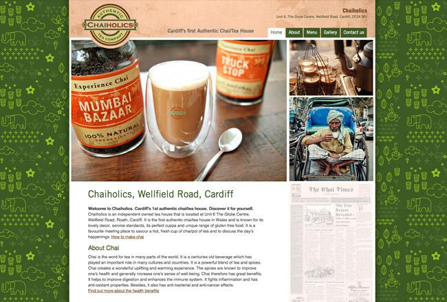 Web project for tea room