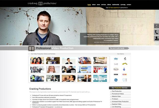 Web Design Cardiff - New Website for Productions Company
