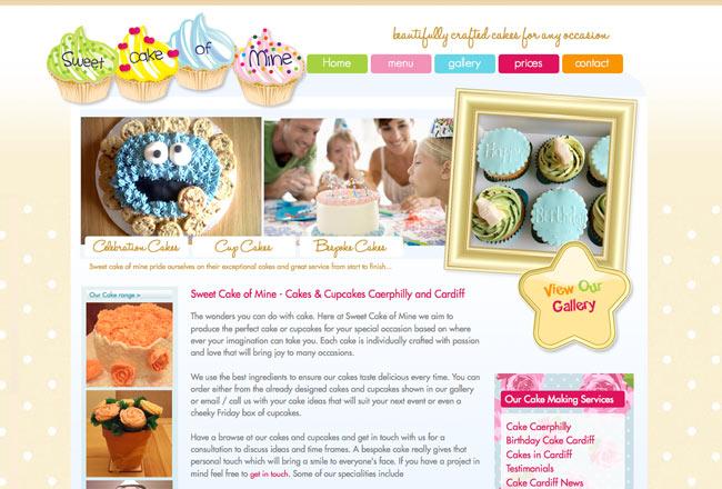 cake web design cardiff - Web Design Project Ideas