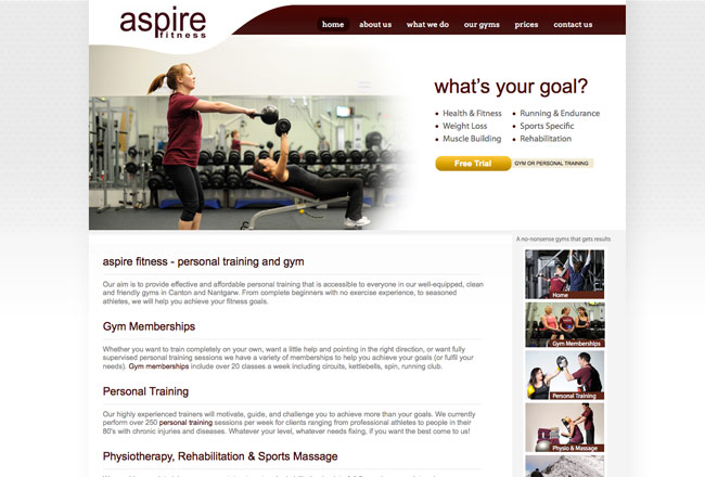 gym-web-design